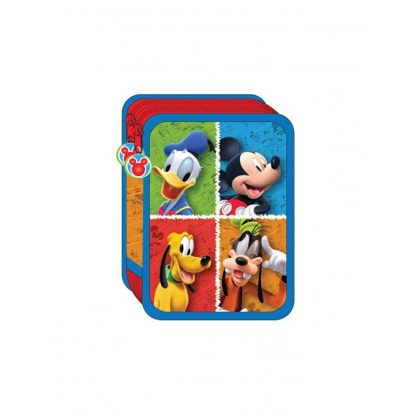 Astuccio 2 Zip Mickey Mouse